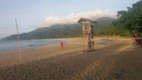 Голубой пляж Стоковое фото RF