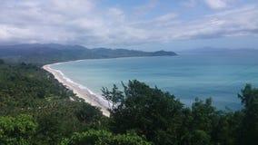 Голубой пляж стоковое изображение