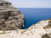 Голубой район грота в Gozo, Мальте стоковое фото rf