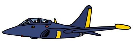 Голубой реактивный самолет иллюстрация штока