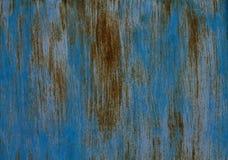 Голубой ржавый текстурированный стальной лист Стоковые Изображения