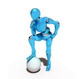 1 голубой робот Стоковое Фото