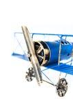 Голубой ручной работы самолет игрушки Стоковые Фото