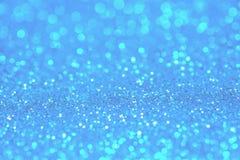 Голубой свет bokeh круги запачканные нежностью светлое белого и Стоковые Изображения RF