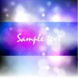 Голубой сияющий шаблон для поздравительой открытки ко дню рождения, приглашения, открытки, журнала Стоковая Фотография RF