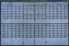 Голубой складывая строб металла стоковое изображение