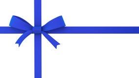 Голубой смычок подарка Стоковые Изображения