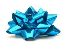 голубой смычок Стоковое Фото