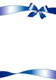 голубой смычок Стоковое Изображение RF