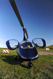 Голубой современный автожир Стоковые Фото
