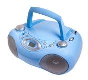Голубой стерео кассетный магнитофон радио mp3 КОМПАКТНОГО ДИСКА Стоковое Изображение RF