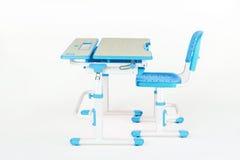 Голубой стол стула и школы Стоковое фото RF