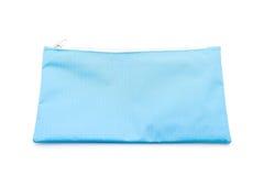 голубой случай карандаша на белизне стоковое изображение rf