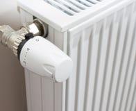 голубой тонизированный термостат радиатора Стоковое фото RF