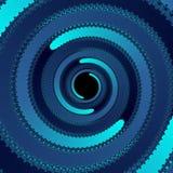 Голубой тоннель фрактали жизни красочной спиральной, голубой абстрактной предпосылки Стоковая Фотография RF