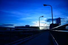 Голубой тон на overcrossing Стоковые Изображения