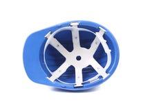 голубой трудный шлем Стоковые Фотографии RF
