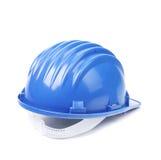 голубой трудный шлем Стоковое Изображение