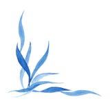 Голубой угол стиля акварели индиго конструируйте элемент для wedding приглашения, украшения карточки Стоковое Изображение