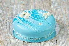 Голубой украшенный морской-стиль торта Стоковое Фото