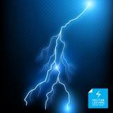 Голубой удар молнии вектора иллюстрация штока