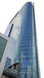 Голубой фасад небоскреба стоковое фото rf