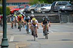 Голубой фестиваль сливы - гонка велосипеда Стоковая Фотография RF