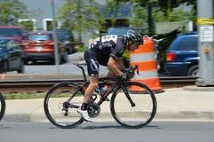 Голубой фестиваль сливы - гонка велосипеда Стоковое Фото