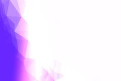 Голубой, фиолетовый и белый полигон Стоковое фото RF