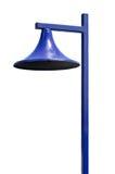 Голубой фонарный столб изолированный на белой предпосылке Стоковое Фото