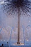голубой фонтан Стоковые Фотографии RF