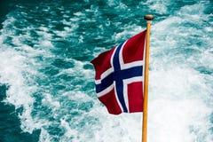 голубой флаг сделал норвежскую красную белизну вектора Стоковые Фотографии RF