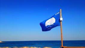 Голубой флаг стоковые изображения