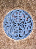 Голубой флористический орнамент стены Стоковое Изображение