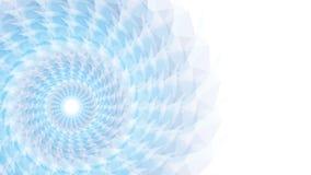 Голубой цветок на предпосылке Уайта Стоковая Фотография RF