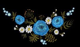 Голубой цветок поля buttercupherb лютика сбор винограда античной collectible открытки предмета почты родственный Традиционный цве Стоковое Изображение RF