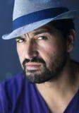 Голубой человек шляпы Стоковое Изображение RF