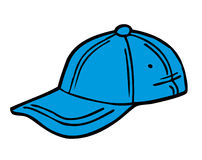 Голубой шарж шляпы Иллюстрация вектора