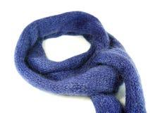 Голубой шарф шерстяных и mohair Стоковое Изображение