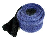 Голубой шарф шерстяных и mohair Стоковое Изображение RF