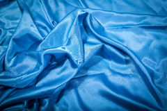 голубой шелк Стоковое фото RF