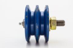 Голубой шкив Стоковое Изображение