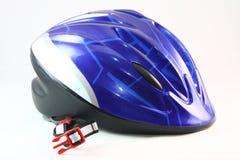 Голубой шлем велосипеда Стоковое фото RF