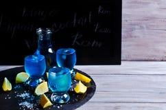 голубой льдед питья Стоковые Фото