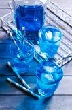 голубой льдед питья Стоковое Изображение RF