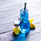голубой льдед питья Стоковое Фото