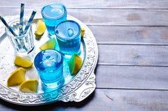 голубой льдед питья Стоковые Изображения RF
