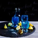 голубой льдед питья Стоковые Фотографии RF