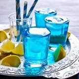 голубой льдед питья Стоковое фото RF