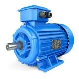Голубой электрический промышленный мотор иллюстрация штока